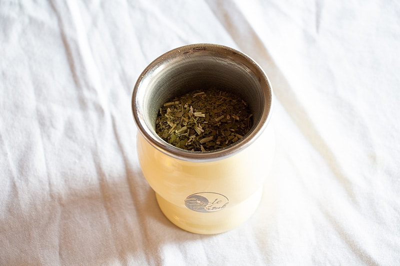 Purity Energy Cup - Stainless Steel, Double-walled, ivory yerba mate cup