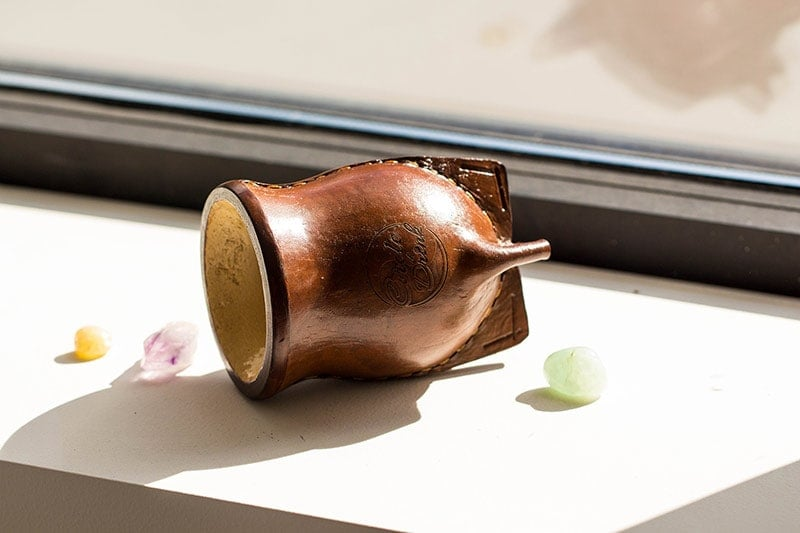 Stanton Cup Chalice Traditional Brazilian Leather Wrapped Cuia Gourd